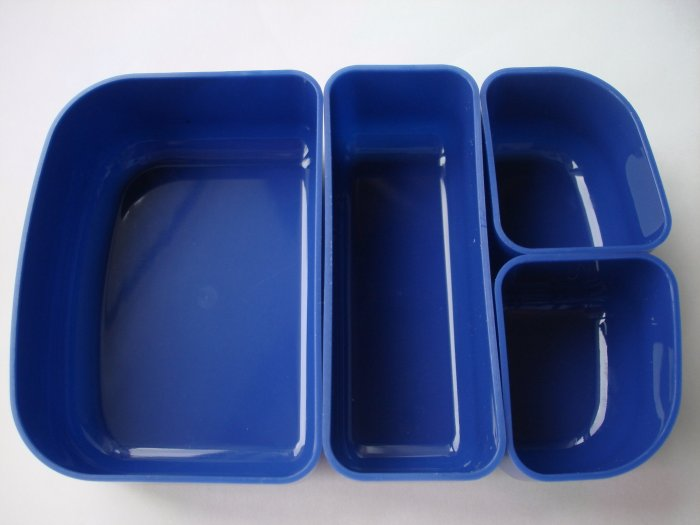 Inner Bento Dividers for one tier box, Blue