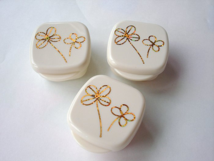 Tan and Gold Clover Bento Mayo Cups