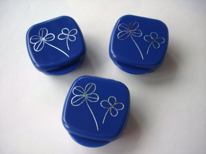 Blue and Silver Clover  Mayo Cups