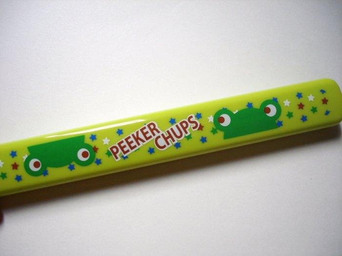 Peeker Chups Green Frog Chopsticks and Case