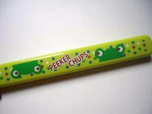 Peeker Chups Green Frog Chopsticks and Case