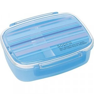 Blue Sopra Design Bento Box, one tier