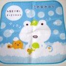 San-X Tsugihikerori White Frog Blue Bubble Oshibori