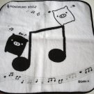 Monokuro Boo White Music Note Oshibori