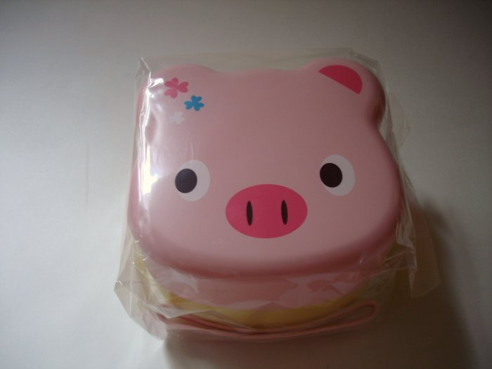 Chups Pink Pig Shaped Bento Box