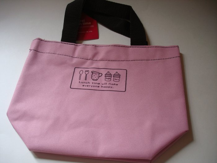 Natural Lunch Time Pink Bento Bag