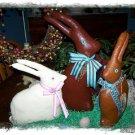 Handmade Chocolate Easter Rabbits ~ Set of Three