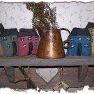 5 Salt Box House Bowl Fillers/Ornies ~ Handmade