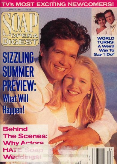 Soap Opera Digest Magazine 6 11 91 Michael Damian Lauralee Bell