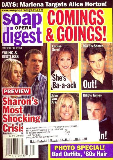 Soap Opera Digest 3 30 2004 Sharon Case Joshua Morrow magazine