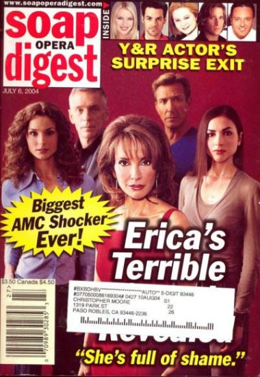 Soap Opera Digest 7 6 2004 Susan Lucci Mark LaMura Walt Willey Eden Riegel magazine
