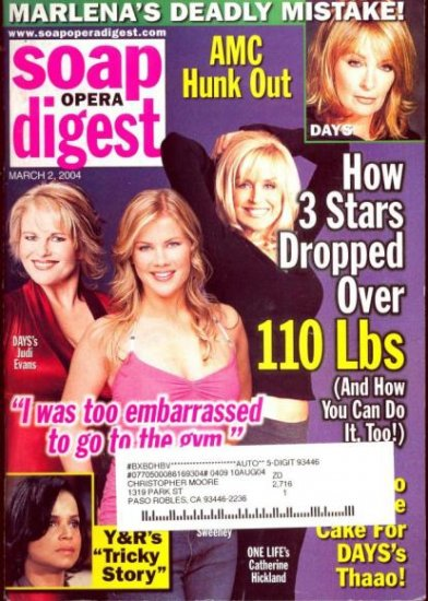Soap Opera Digest 3 2 2004 Judi Evans Alison Sweeney magazine