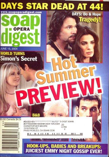 Soap Opera Digest  magazine  6 15 2004 Kristina Alfonso P Reckell