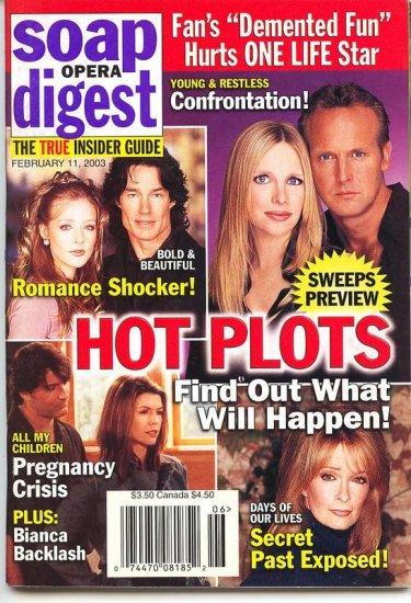 Soap Opera Digest  magazine 2 11 2003 Jennifer Finnigan Ronn Moss