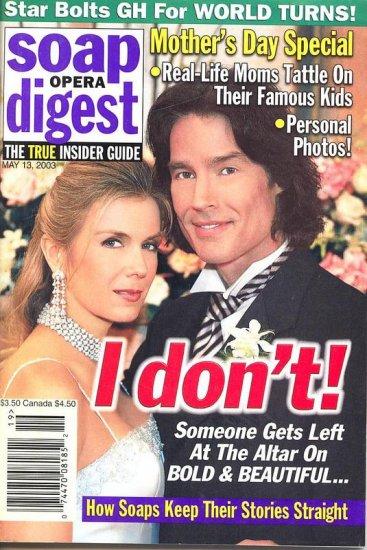 Soap Opera Digest  magazine 5 13 2003 Katherine Lang Ronn Moss