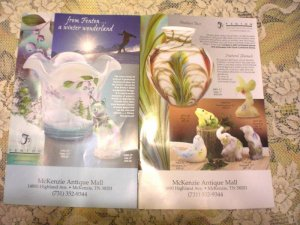 Two Fenton Glass Supplements Catalog Exclusives 2006 Booklet