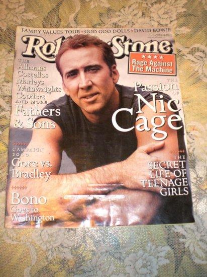 November 11 Rolling Stone Magazine Nicolas Cage 825 11 11 1999