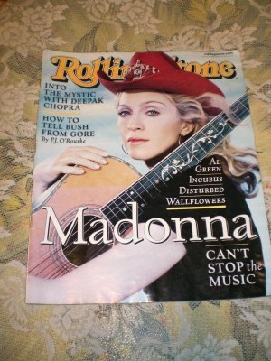 Rolling Stone Magazine Madonna 9 28 2000 Issue # 850