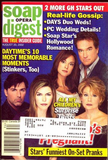 Soap Opera Digest 8 20 2002 Julia Barr Finola Hughes