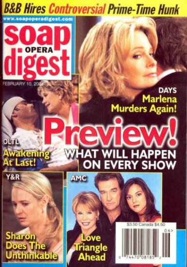 Soap Opera Digest 2 10 2004 Deidre Hall Days Preview magazine