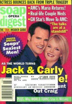 Soap Opera Digest 4 30 2002 Michael Park Maura West
