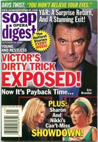 Soap Opera Digest 10 14 2003 Eric Braeden Sharon Case