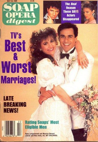 Soap Opera Digest 5 30 1989 Rosa Langschwadt Benard