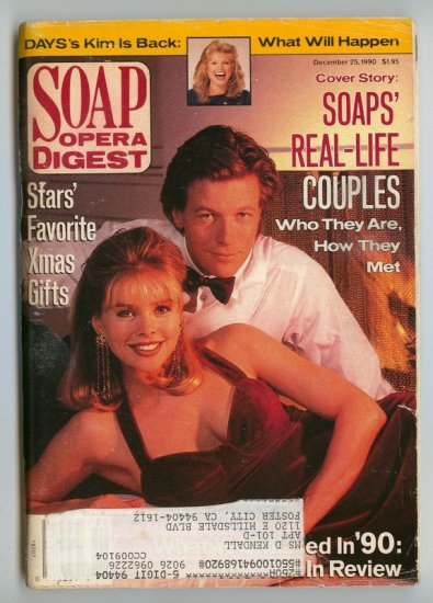 Soap Opera Digest 12 25 90 Jack Wagner K. Malandro
