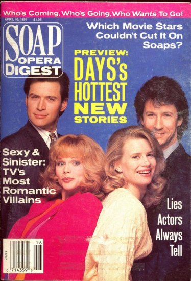 Soap Opera Digest 4 16 1991 Patsy Pease C Shaughnessy