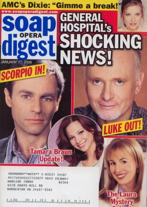 Soap Opera Digest 1 17 2006 GH Shocking News Luke Laura