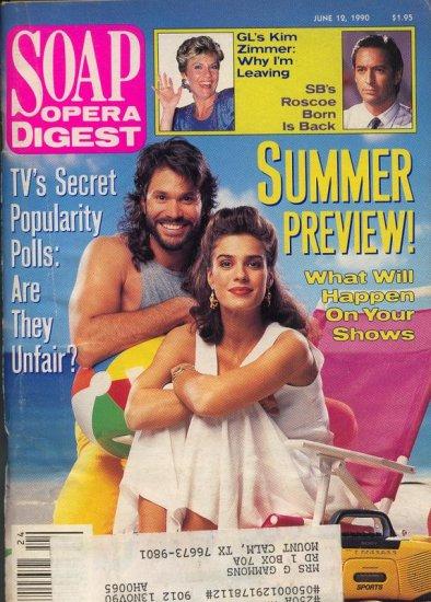 Soap Opera Digest 6 12 1990 P Reckell Kristian Alfonso