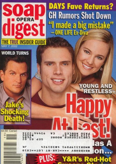 Soap Opera Digest 5 7 2002 Joshua Morrow Sharon Case