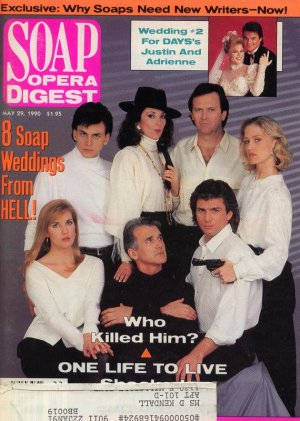 Soap Opera Digest 5 29 1990 Soap Weddings from Hell