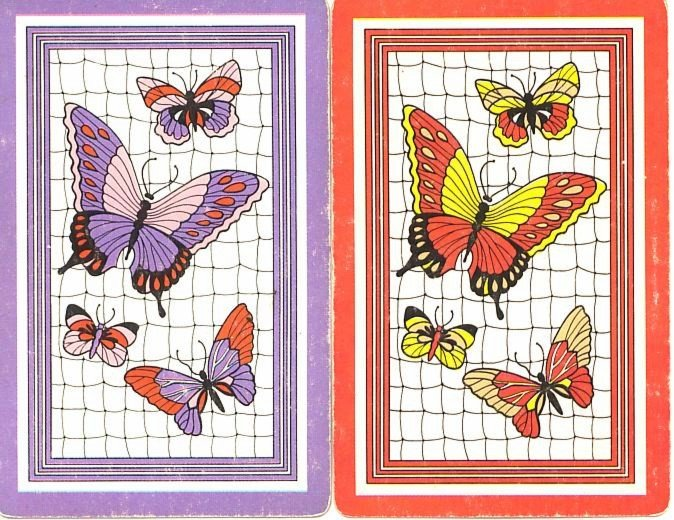 Vintage Butterfly Swap Cards Single Altered Art