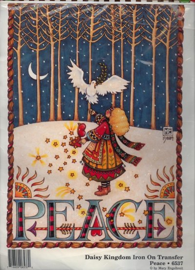 Mary Engelbreit  1990 Iron On Transfer PEACE 6537 Daisy Kingdom