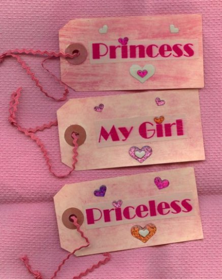 OOAK Gift Tags Scrapbooking ~ Princess  ~  Made by me in the USA