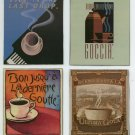 OOAK  set of 4 coffee lovers  magnets ~ Made by me in the USA