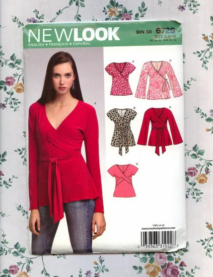 2007 Uncut Simplicity New Look 6729 Topwith ties size A 6-16