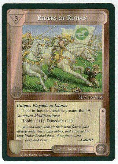 Middle Earth Riders Of Rohan Wizards Fixed Game Card