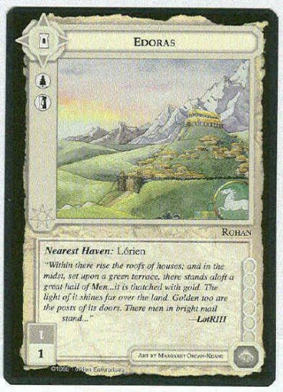 Middle Earth Edoras Wizards Limited Fixed Game Card