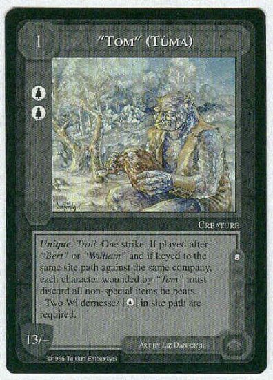 "Middle Earth ""Tom"" (Tuma) Wizards Uncommon Game Card"