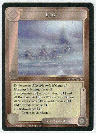 Middle Earth Fog Wizards Limited Uncommon Game Card