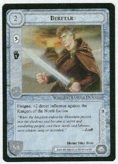 Middle Earth Beretar Wizards Limited Uncommon Game Card
