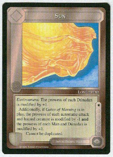 Middle Earth Sun Wizards Limited Uncommon Game Card