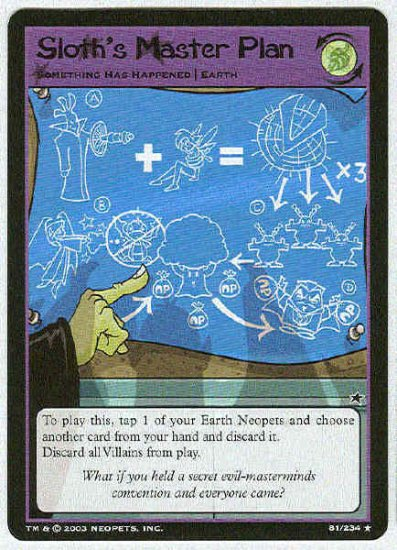 Neopets CCG Base Set #81 Sloth's Master Plan Rare Card