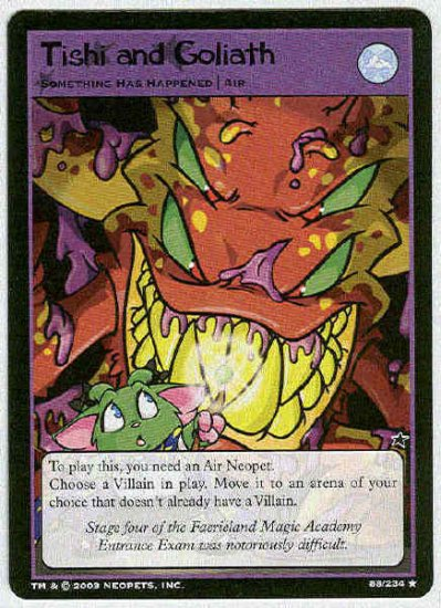 Neopets CCG Base Set #88 Tishi and Goliath Rare Game Card