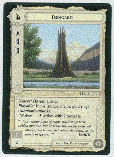Middle Earth Isengard Wizards Limited Fixed Game Card