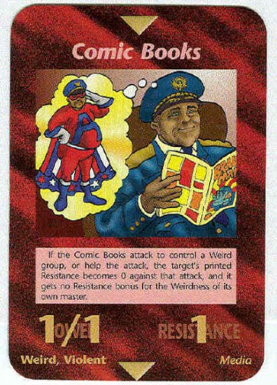Illuminati Comic Books New World Order Game Trading Card