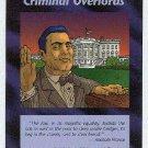 Illuminati Criminal Overlords New World Order Game Card