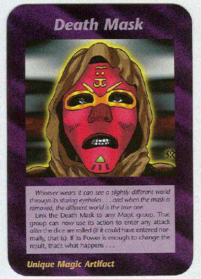 Illuminati Death Mask New World Order Game Trading Card